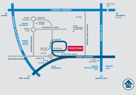 Dongyang Malaysia Office Map